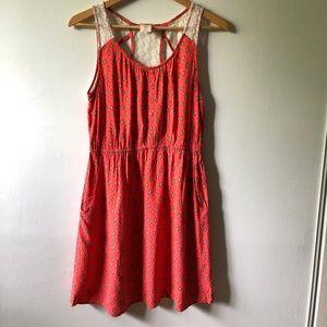 Mossimo Orange Cotton and Lace Dress